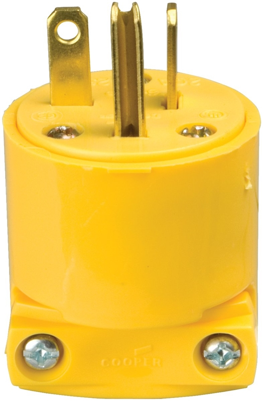 Plugs Connectors Cooper Wiring Devices 20amp 250volt Yellow 3wire