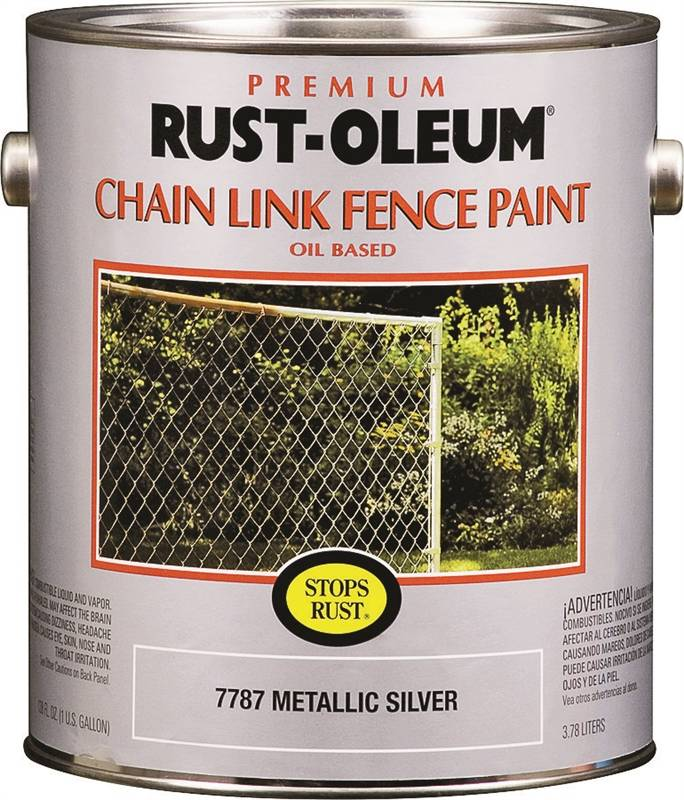 Rustoleum Premium Oil Based Rust Preventive Chain Link Fence Paint 1 Gal Can 400 Sq Ft Silver