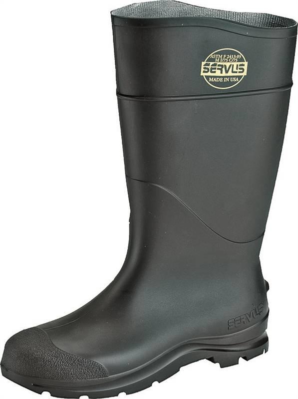 18035 BOOT PVC ST TOE 16IN BLACK 8