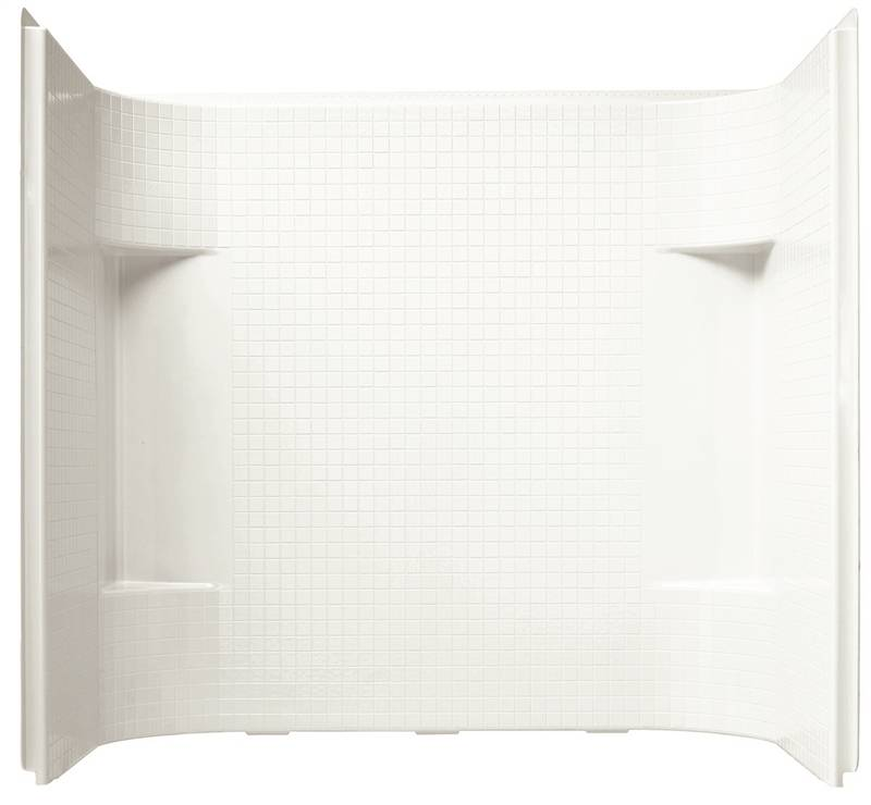 Sterling Accord 7114 3-Piece Shower Wall Kit, 60 in L x 31-1/4 in W ...