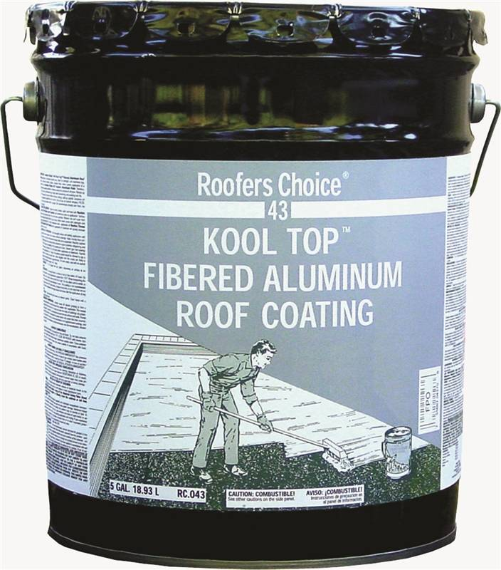 Henry Roofers Choice Fibered Aluminum Roof Coating 4 75