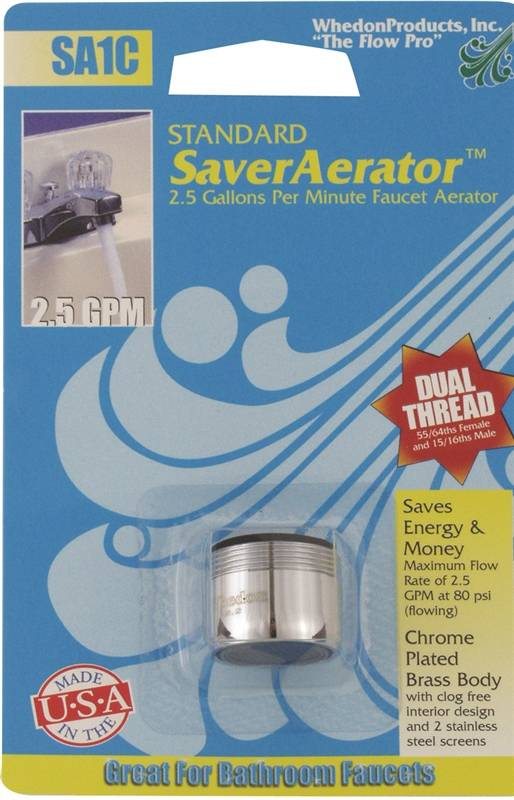 Whedon Sa1c Dual Thread Faucet Aerator 15 16 27 Male