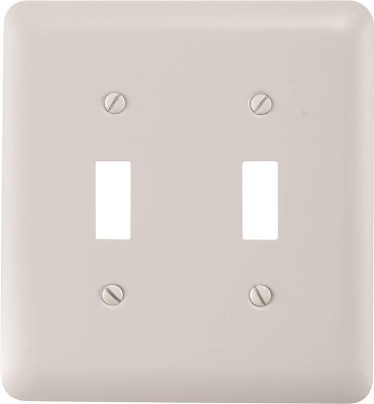 Amertac 935ttw Wall Plate 2 Gang 5 In L X 4 58 In W X 14 In D White