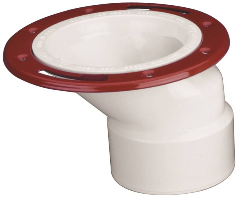 Level-Fit 43501 Offset Toilet Flange, 3 X 4 in, PVC