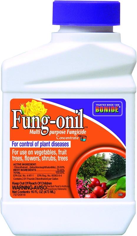 Bonide Fungonil 880 Concentrate Fungicide 1 Pt White Liquid