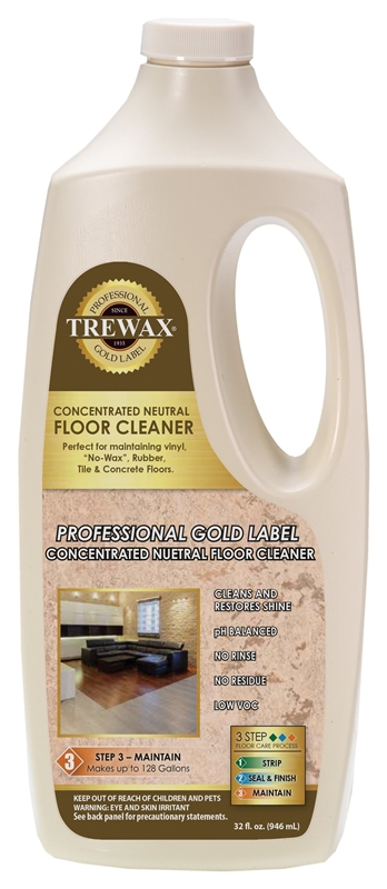 Trewax 887250032 Concentrated Neutral Floor Cleaner 32 Oz