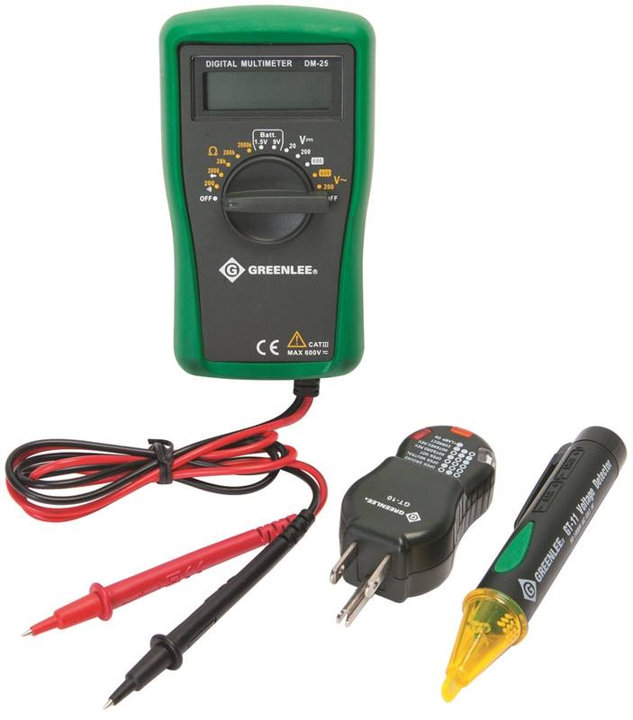 Greenlee Textron TK-30A Electrical Tester Kits, 3-Piece, With ...