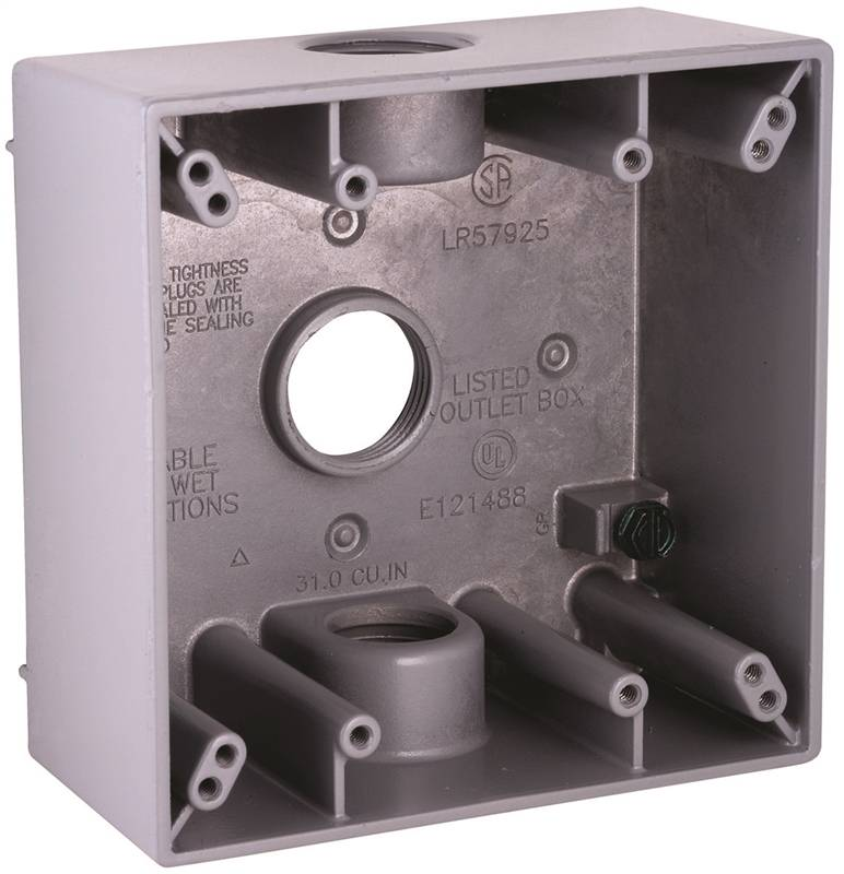 product specific 4-1//2 In L X 2-3//4 In W X 2 In D 4-1//2 L x 2-3//4 W x 18.3 Cu-In 1 Gang Hubbell 5324-0 Outlet Box