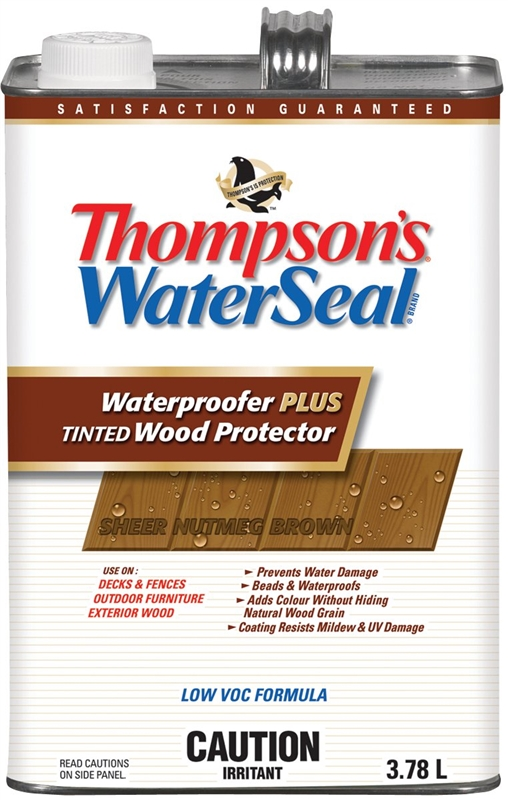 Thompsonu0027s WaterSeal Plus THC043044 16 Low VOC Wood Protector