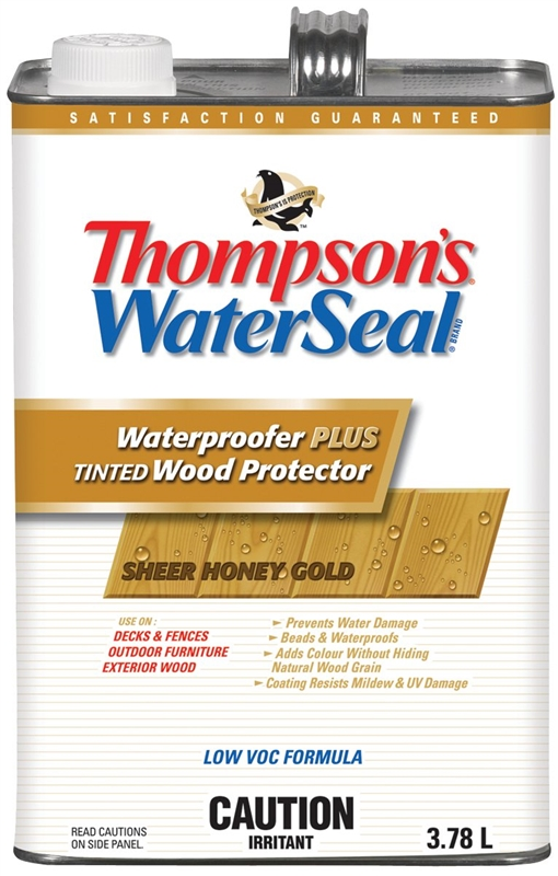 Thompsonu0027s WaterSeal Plus THC043064 16 Low VOC Wood Protector