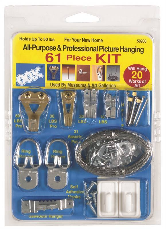 10-Pc Picture Hangers Conventional Hooks 30 Pound Capacity