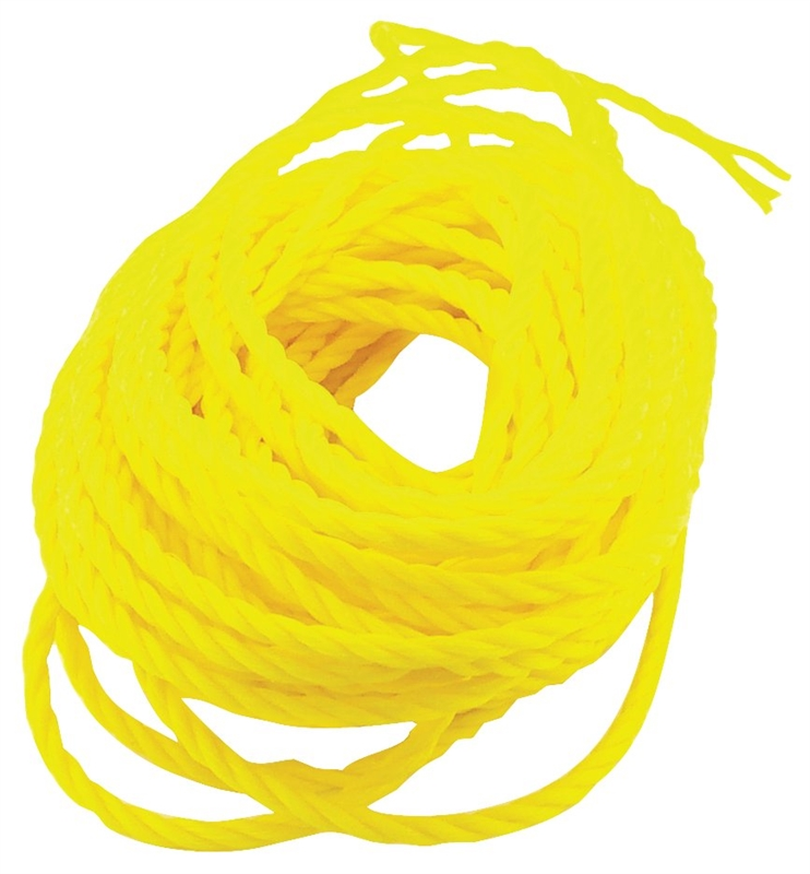 x 100 ft Dia L Solid Braided  Nylon  Rope  White Wellington  1//4 in