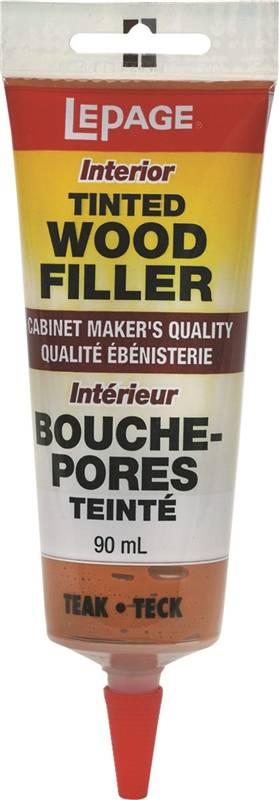 Lepage 393936 Wood Filler Tinted 90 Ml Squeeze Tube Teak