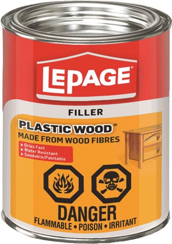 Lepage Plastic Wood Wood Filler 946 Ml Metal Tin Light Tan Cream 10 Min