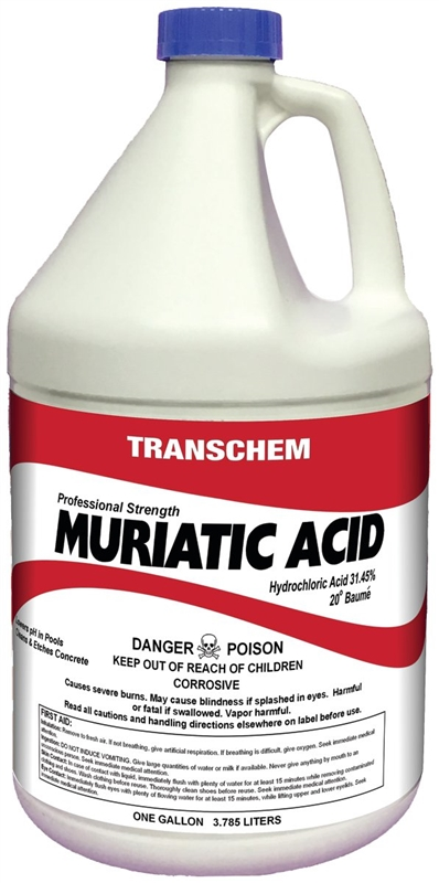 Acid Muriatic Gallon Case Of 4