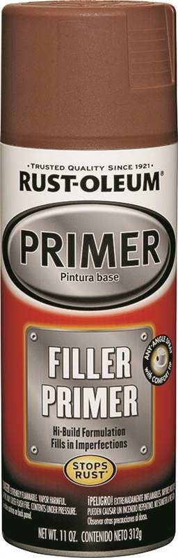 Rust-Oleum 249320 2-in-1 Automotive Filler and Sandable Primer, 11 oz,  Liquid, Red