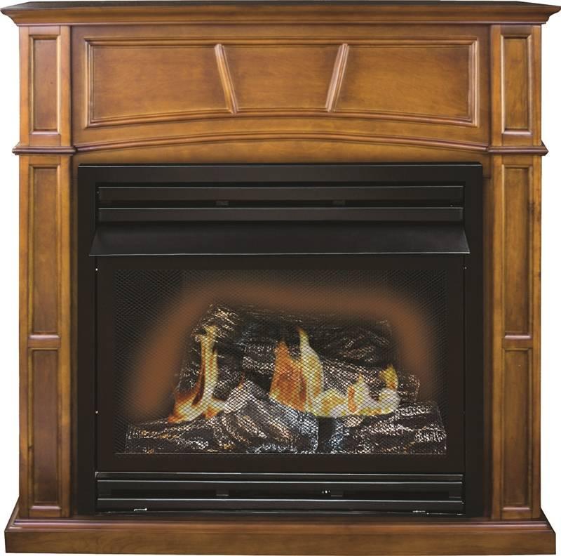 Kozy World Gfd3280r Gas Fireplace 32000 Btu 1350 Sq Ft Dual Fuel