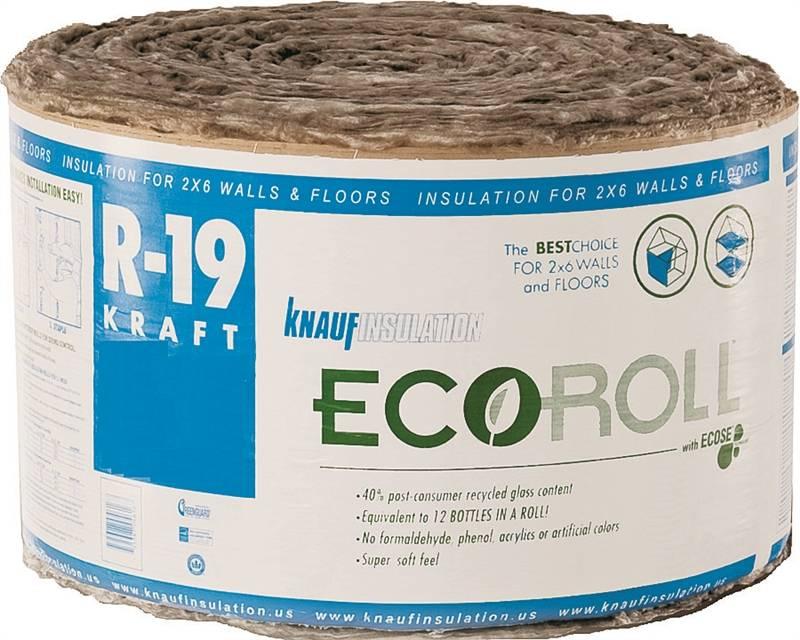 Ecoroll Kr45e Kraft Faced Fiberglass Insulation 15 In W X