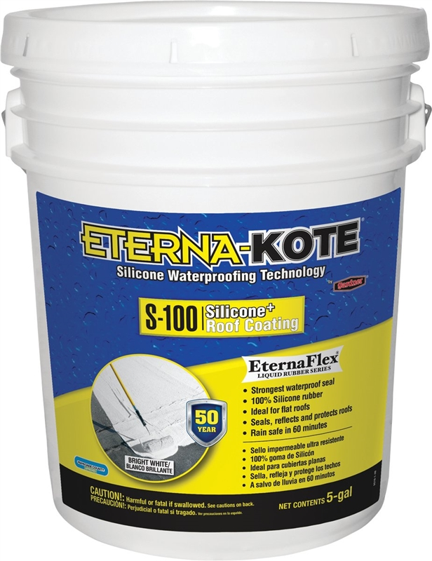 Eterna Kote 5570 1 30 Silicone Roof Coating 5 Gal Pail