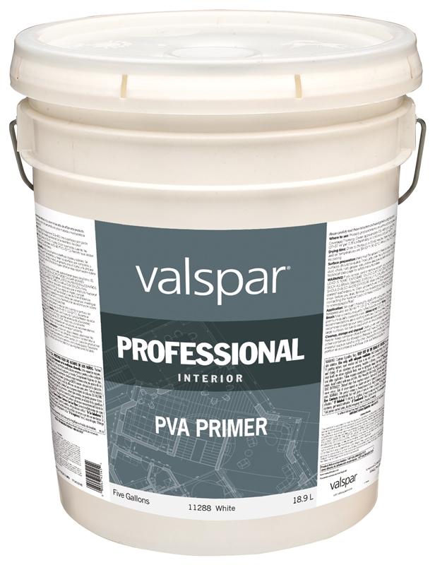 Valspar Professional General Purpose Interior Pva Primer 5 Gal Pail Liquid White