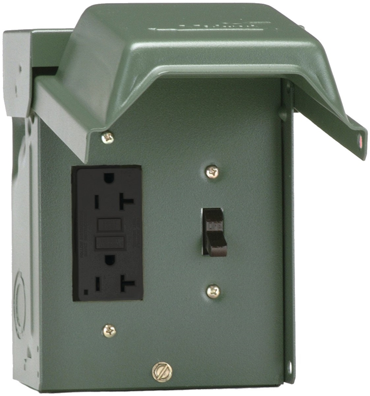 GE U010S010GRP Weatherproof Outlets, Outdoor, 20 Amp/Switch
