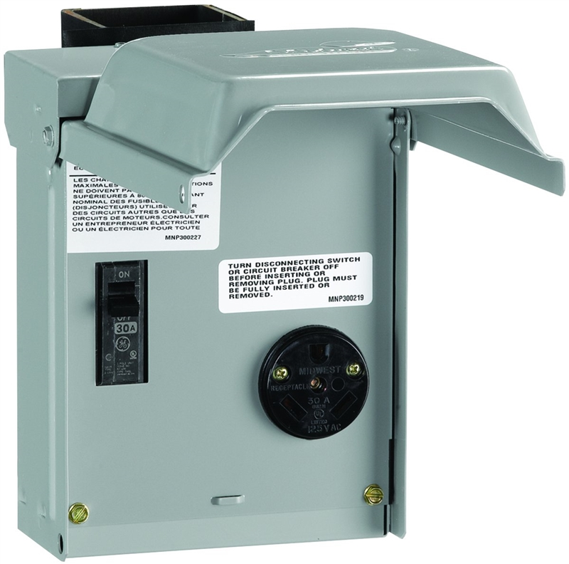 GE U013CP Rv Power Outlet Panels, Outdoor - Nema 3R, 30 Amp