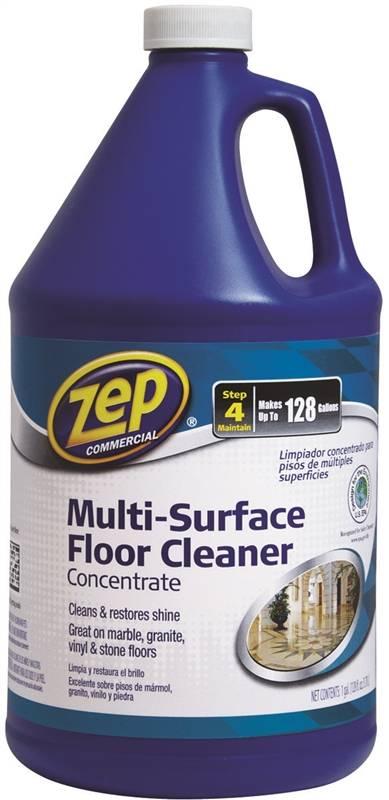 Zep zuneut128 floor cleaner 1 gal bottle green liquid for Zep concrete floor cleaner