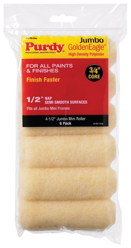 L x 4-1//2 in W 2 pk Purdy  Golden Eagle  Polyester  Paint Roller Cover  3//8 in