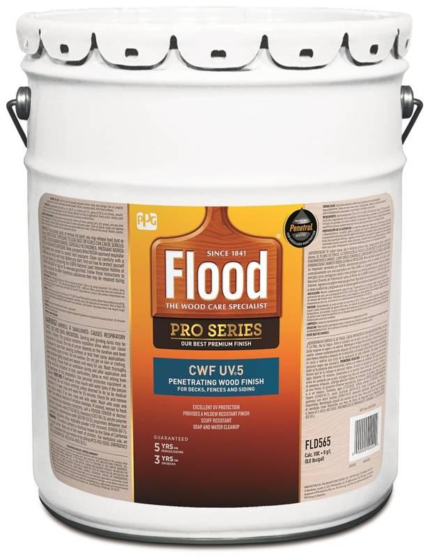 Flood Ppg Fld565 05 Cwf Uv5 Exterior Wood Finish Transparent Pro Series Natural