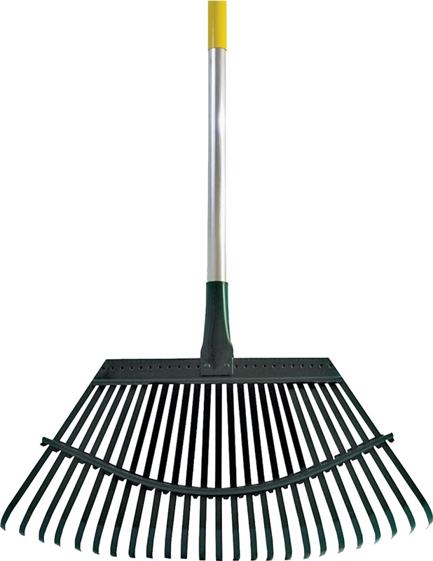 Flexrake garden 1a lawn rake 19 in w head 25 tine 48 in for Large rake garden tool