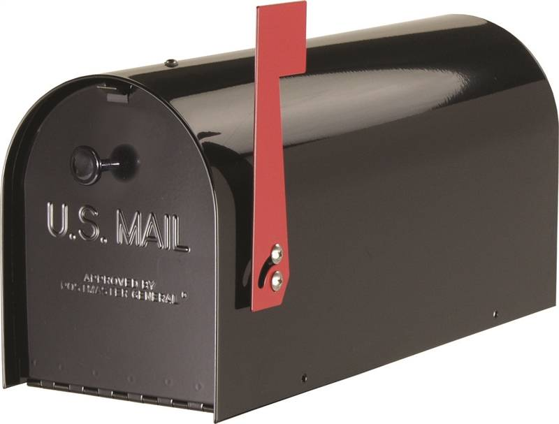 Gibraltar ST200B00 Jumbo Rural Mail Box 15-1//4 In W X 12 In D X 24-1//8 In H,Blk