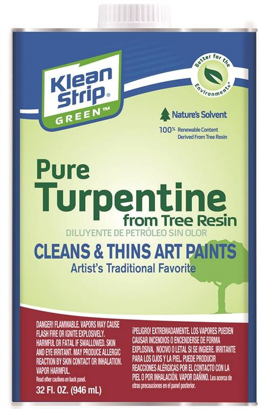 Turpentine Pure Green Quart - Case of 6