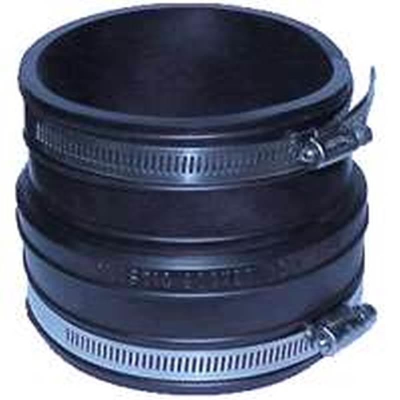 Fernco 1059 Flexible Pipe Coupling, 3 in x 3 99 in, Plastic Socket X  Plastic/Cast Iron, 4 3 psi, PVC