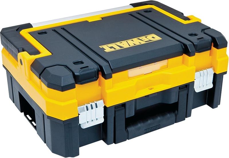 Plastic Long Handle Tool Box 13 in H Black W x 7 in DeWalt TSTAK 17 in