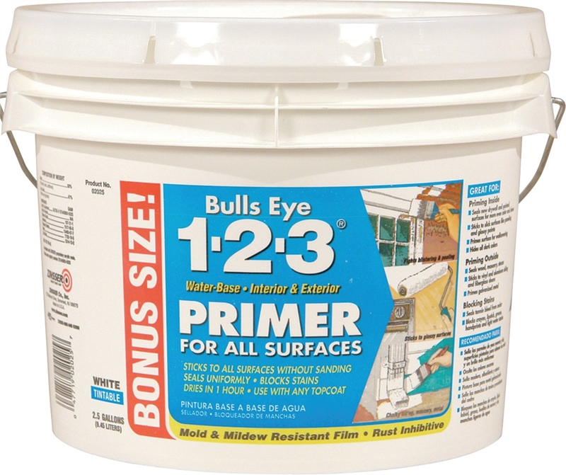 Zinsser Bulls Eye 1 2 3 Primer Sealer 2 5 Gal White