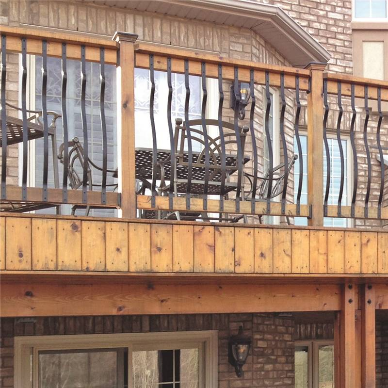 Nuvo Iron RDPF31 Arched Balusters, Flat Bar, 1 x 31 In
