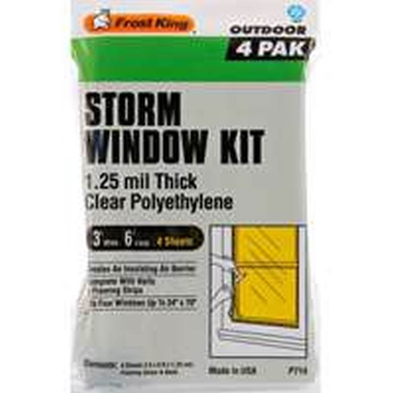 Frost king p714h window insulation kit 3 x 6 ft x for Window insulation kit