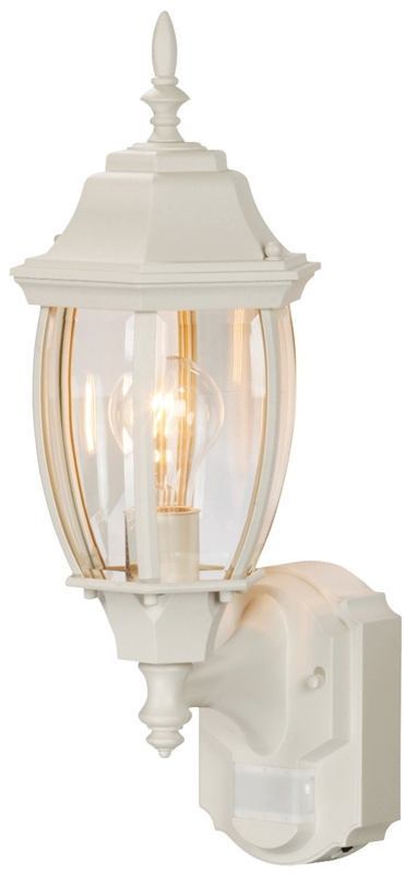 Heath Zenith Hz 4192 Wh Dimmable Motion Activated Decorative Light 120 Vac 100 W 60 30 Ft 180 Deg White