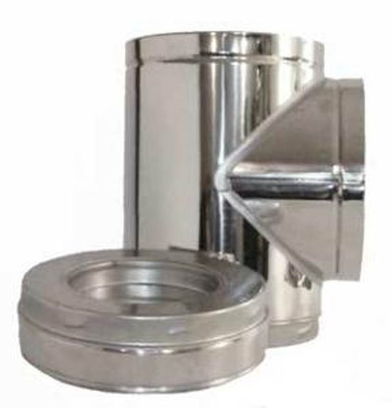 Supervent Jm6it Chimney Tee With Insulated Tee Plug 6 In