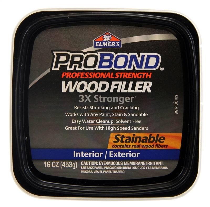 Elmer S Probond Stainable Wood Filler 1 Pt Tub 12 24 Hr