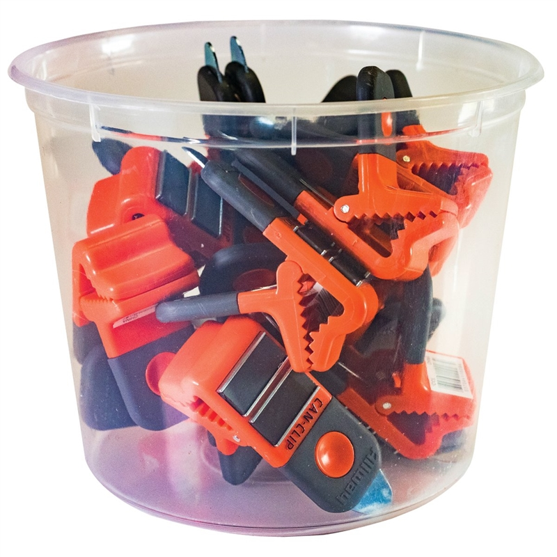 Can Clips Bucket Case Of 15
