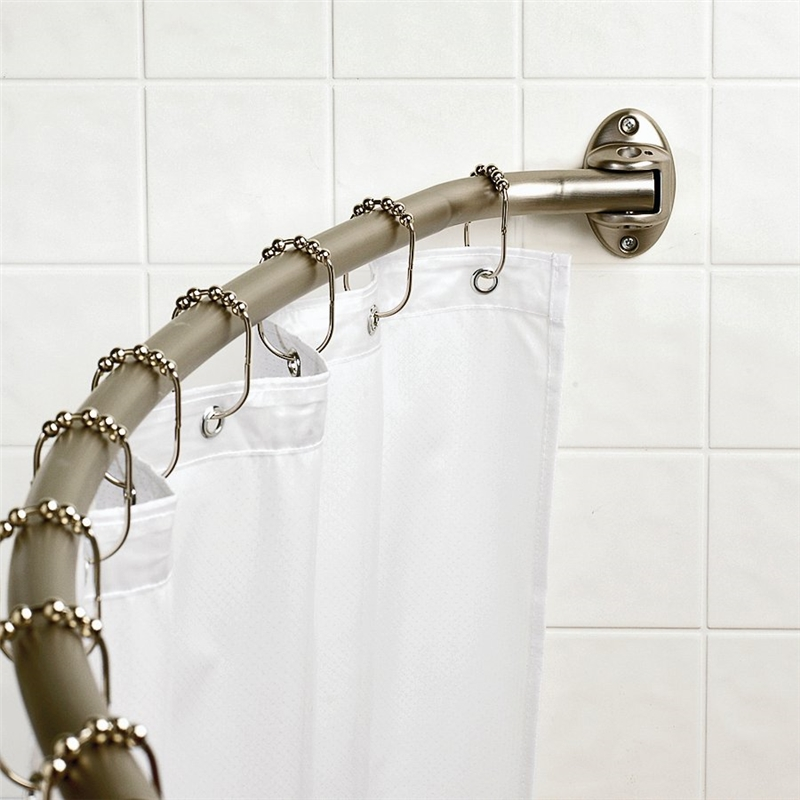 Bowed Shower Curtain Rod.Zhc 35601bn Wide Curved Shower Curtain Rod 72 In L Brushed Nickel