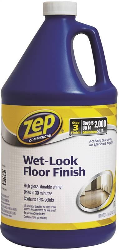 Zep Zuwlff128 Wet Look Floor Finish 128 Oz Plastic Can