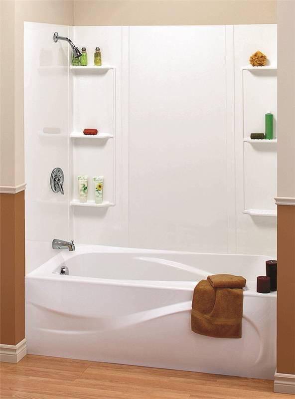 Maax 101604-000-129 5-Piece Bathtub Wall Kit, 48 - 60 in L X 31 in ...