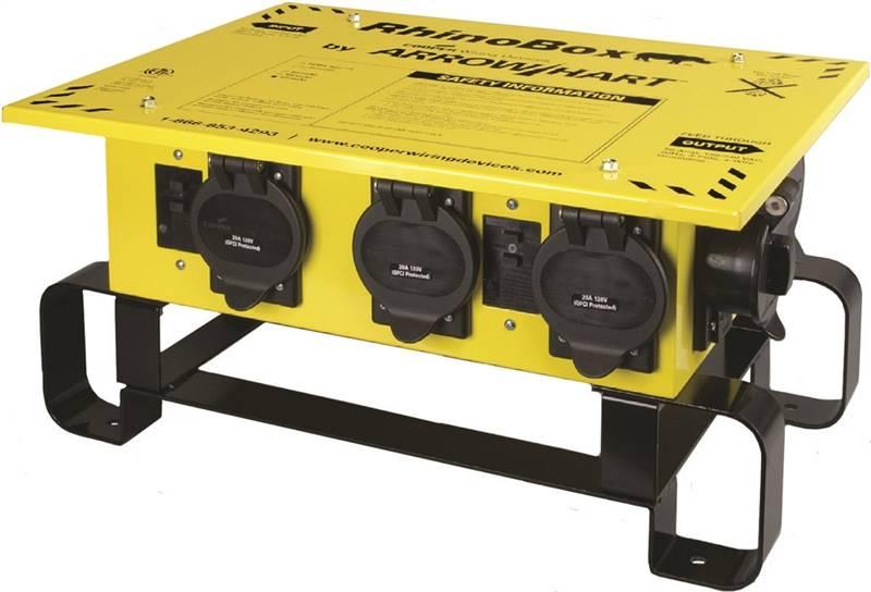 Arrow Hart Rhino Box RB300ME GFCI Power Center 120 240 V