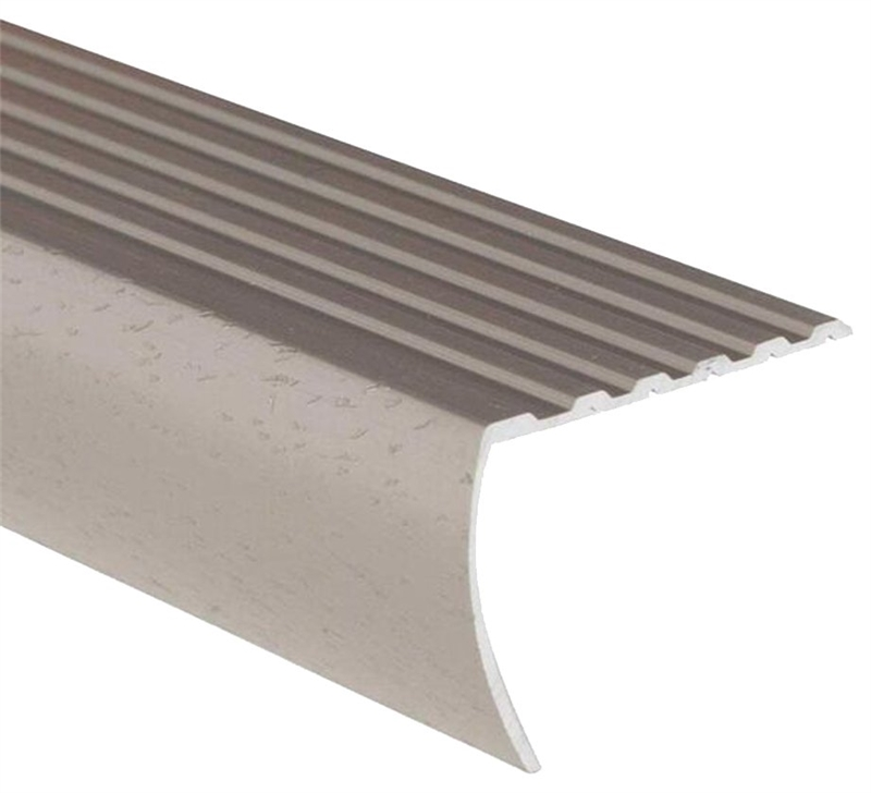 Drummond Metal FA2184HTI06 Stair Nose Moulding, 6 Ft L X 1 1/8 In W,  Aluminum, ...