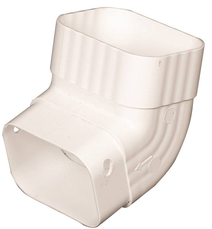 Amerimax M0627 Type A Gutter Elbow 2 In W X 3 In D For