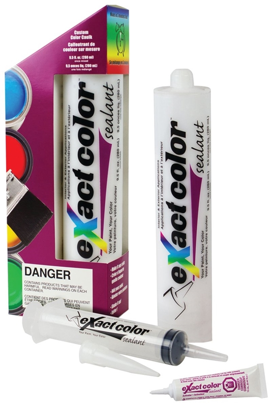 Exact Color 12810 Paintable Acrylic Latex Sealant, 280 ml, Contractor Pack,  White, Paste