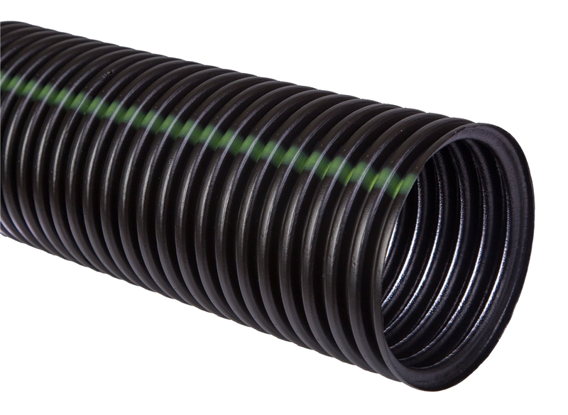 Hancor 03510010 Regular Solid Single Wall Pipe 10 Ft, HDPE