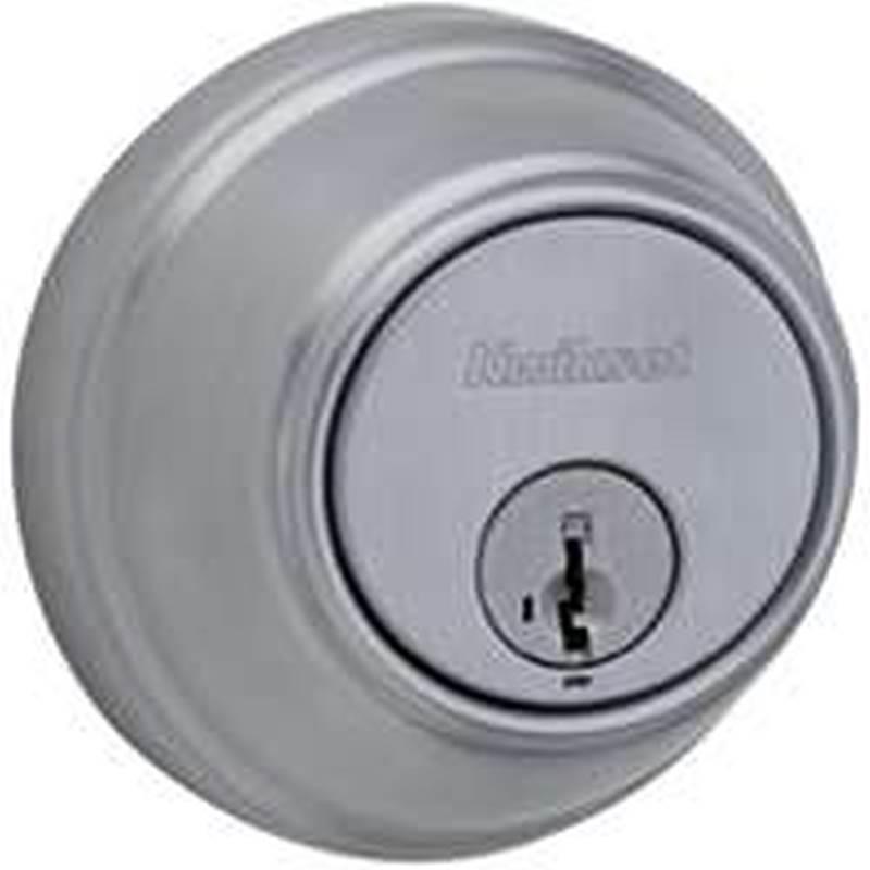Kwikset Austin Single Cylinder Deadbolt featuring SmartKey in Satin Nickel Kwikset Corporation 99800-110